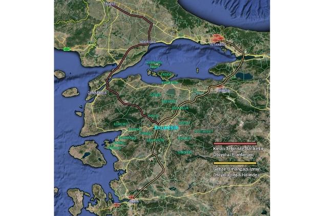 İstanbul-İzmir Otoyolunun Balıkesir Ayağı sındırgıda.com (2)